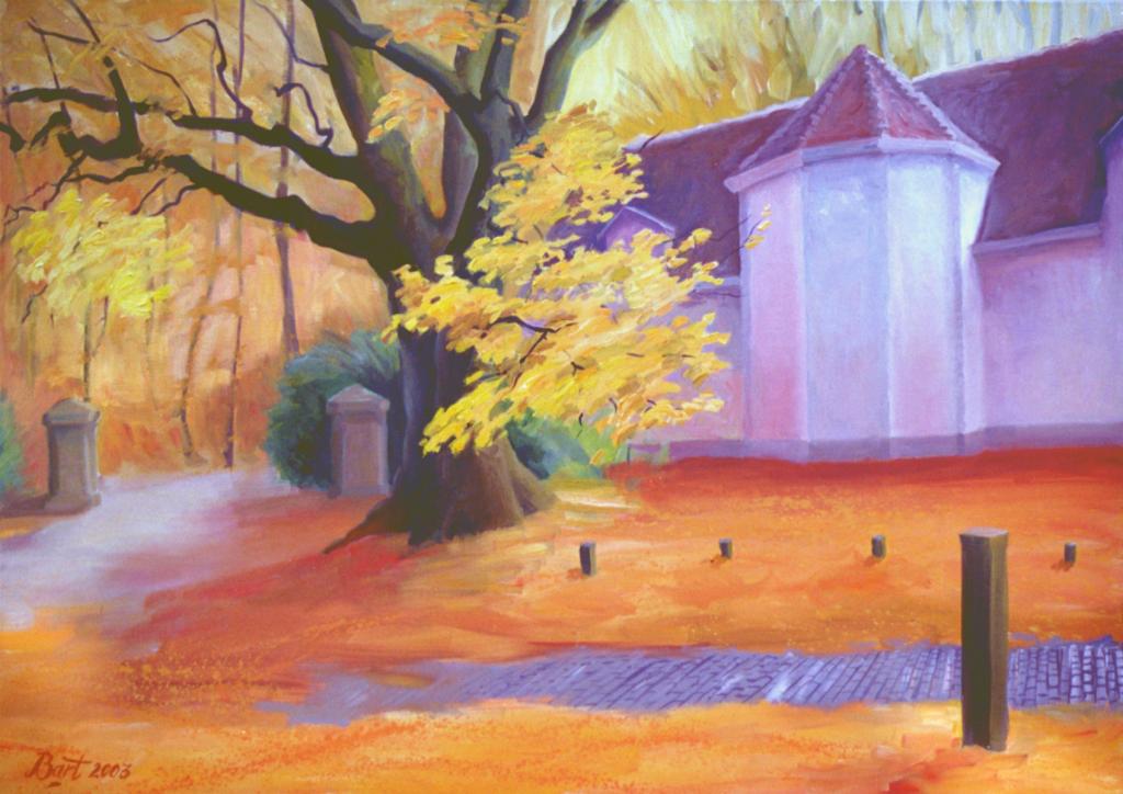 """""""Roze herfst bij de Duno villa"""", 2003"""