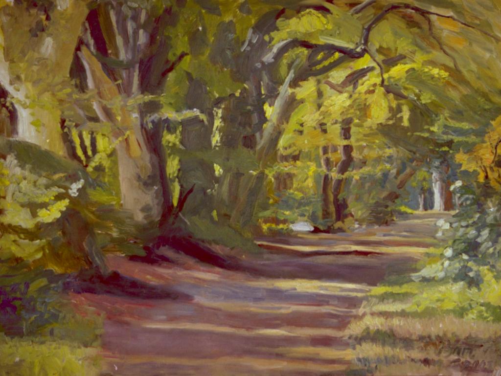 """""""Weg door het bos op Duno landgoed, herfst"""", 2003"""