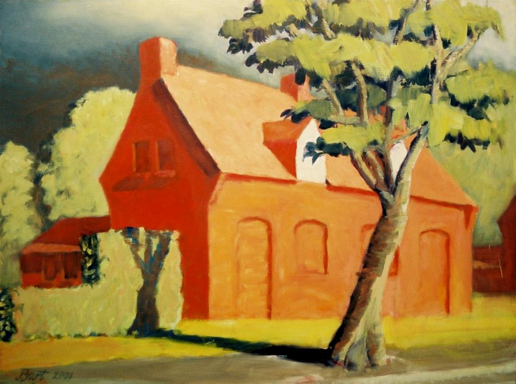 """""""Arbeiderswoning met onweer I"""", 2001"""