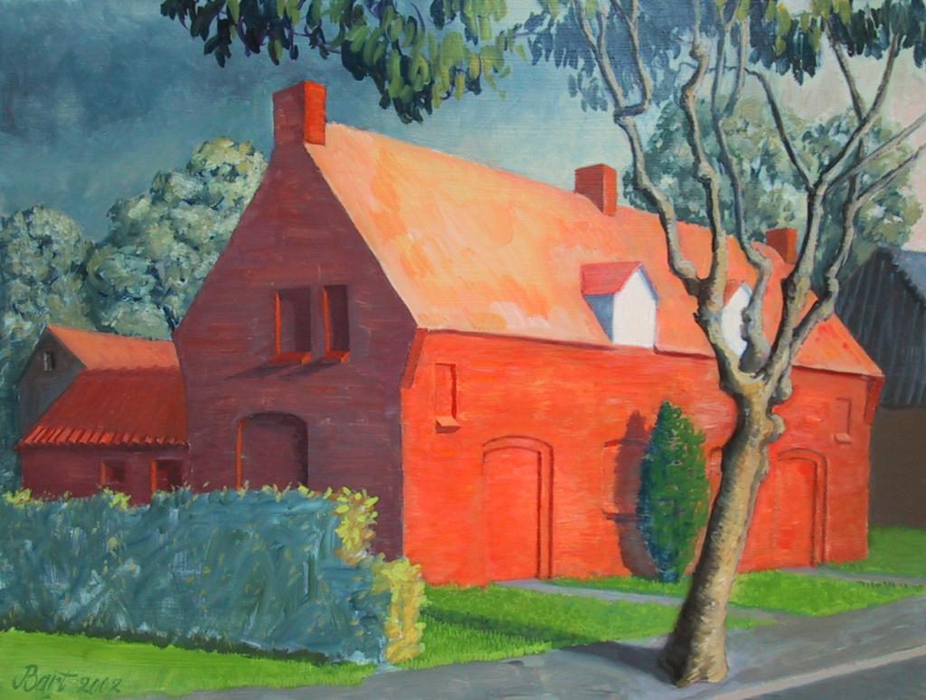 """""""Arbeiderswoning met onweer II"""", 2002"""