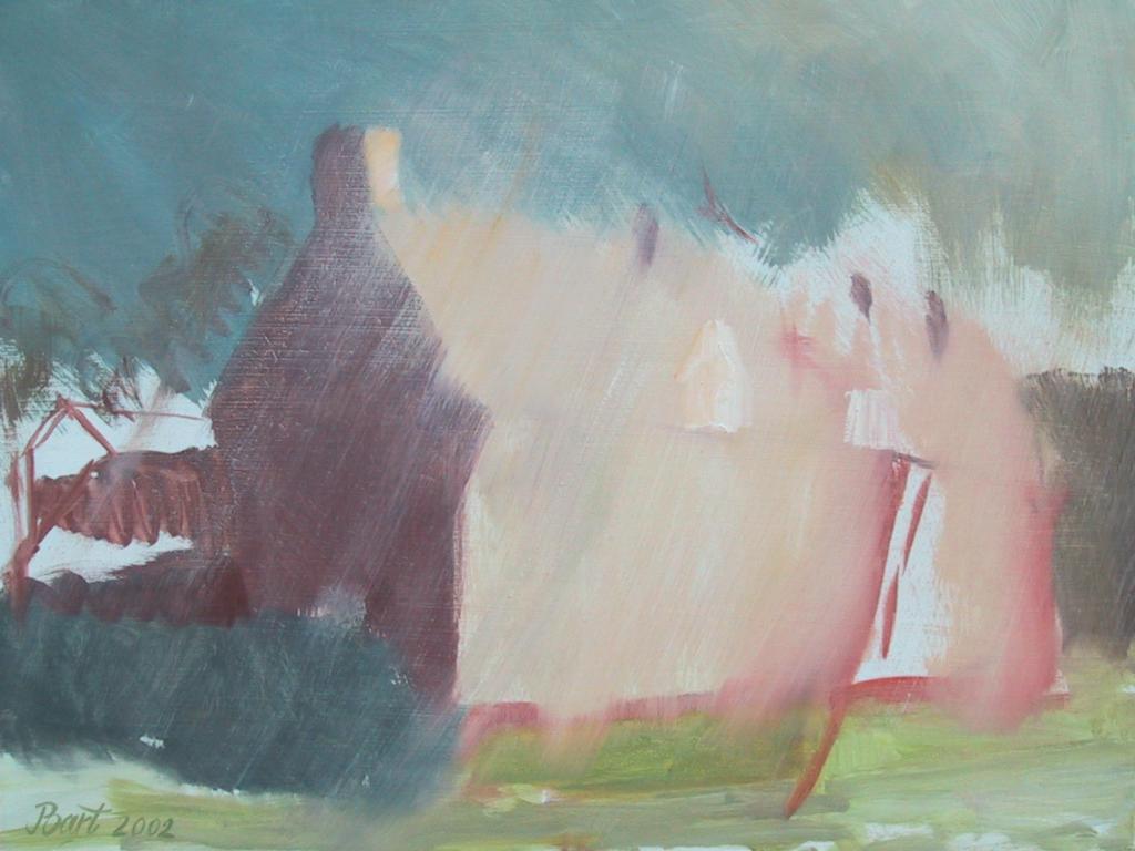 """""""Arbeiderswoning met onweer IV"""", 2002"""