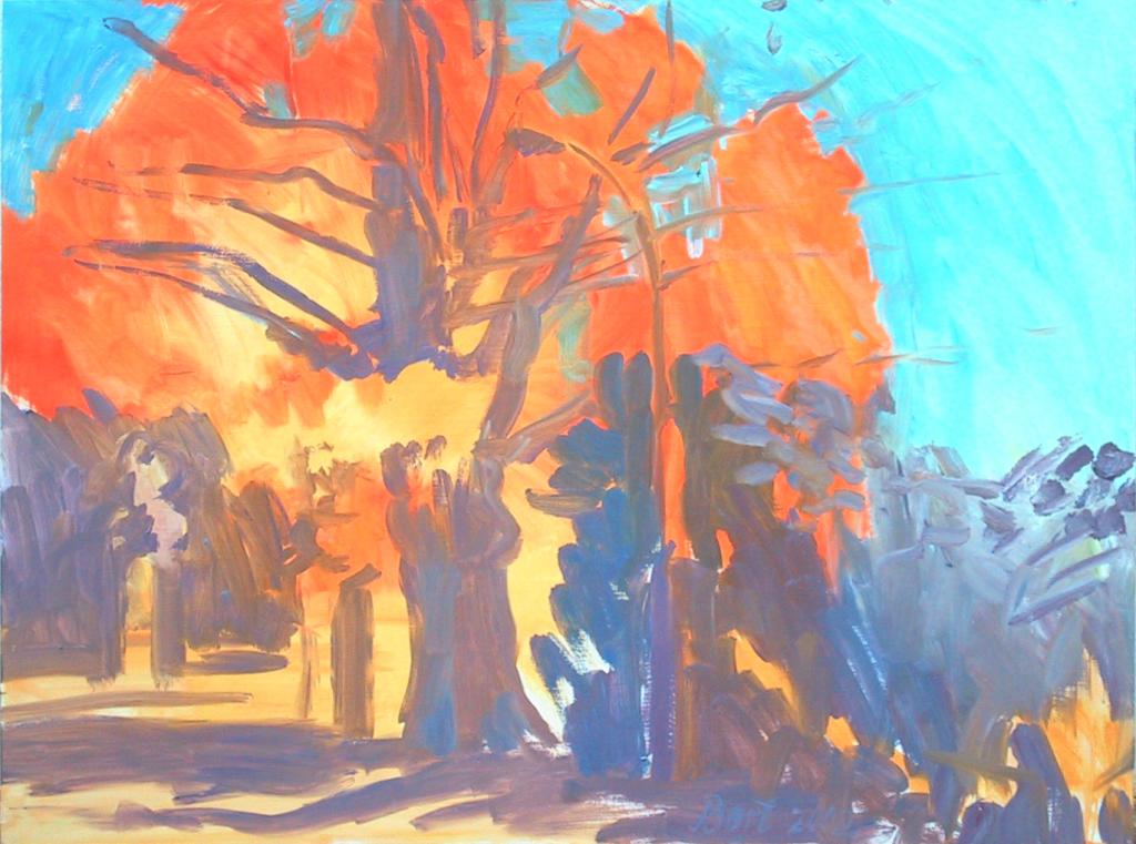 """""""Boom in herfstgloed bij Italiaanseweg II"""", 2002"""