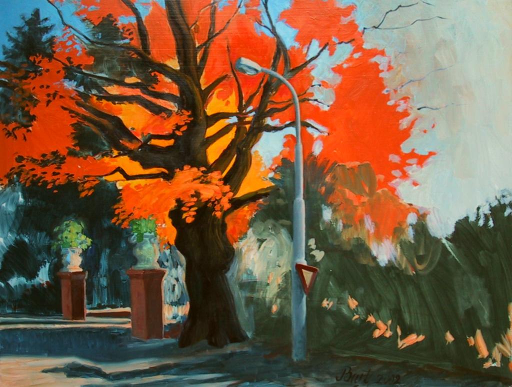 """""""Boom in herfstgloed bij Italiaanseweg"""", 2002"""