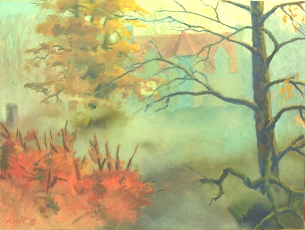 """""""Duno villa, mist, herfst, ochtendlicht"""", 1999"""