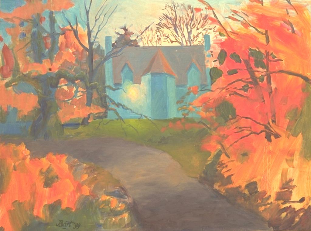 """Duno villa in blauw en oranje"", 1999"