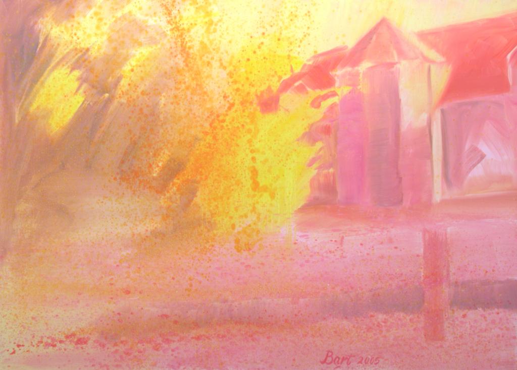 """""""Roze herfst bij de Duno villa II"""", 2005"""