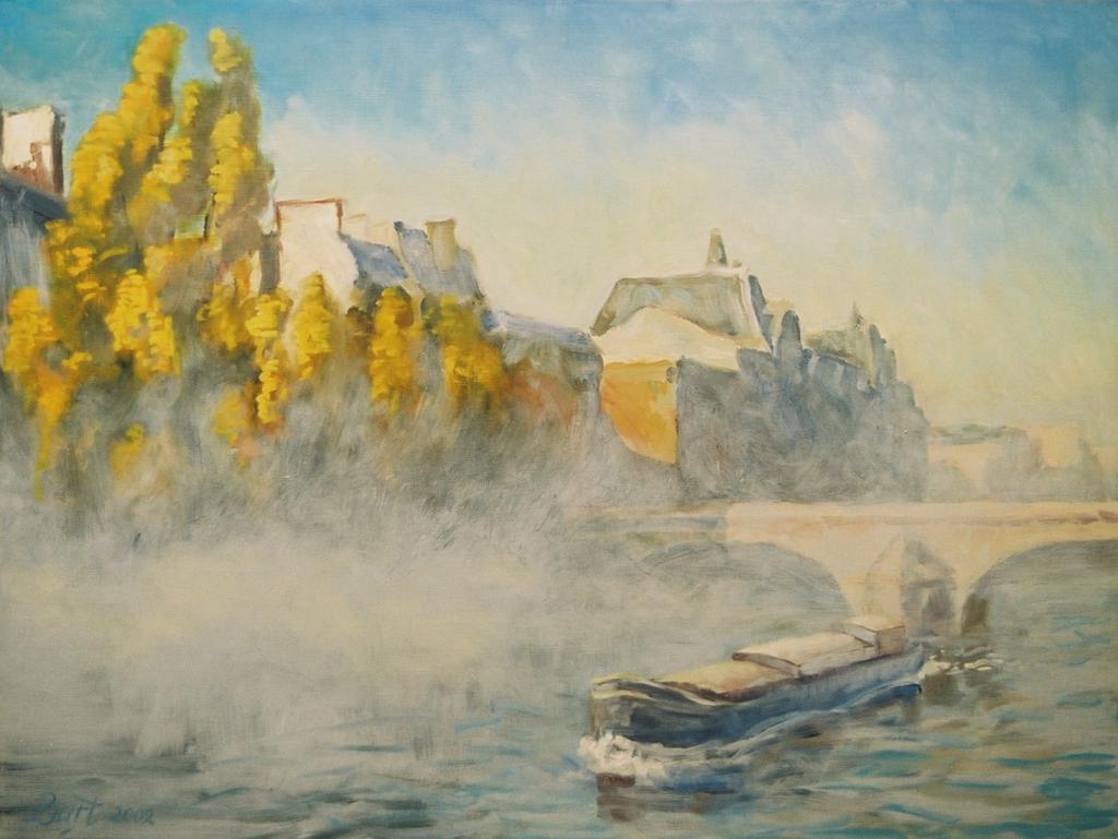 """""""Seine, mist, herfst"""", 2002"""