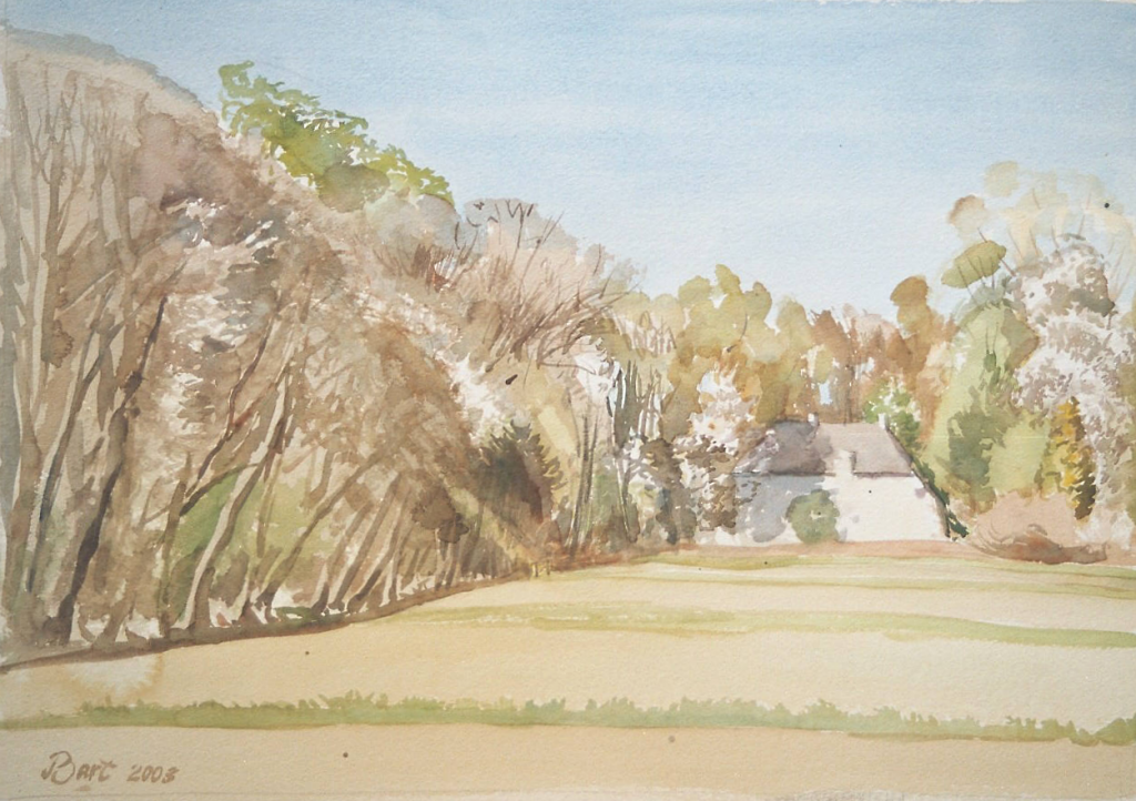 """""""Bosrand bij Hemmen, voorjaar"""", 2003"""