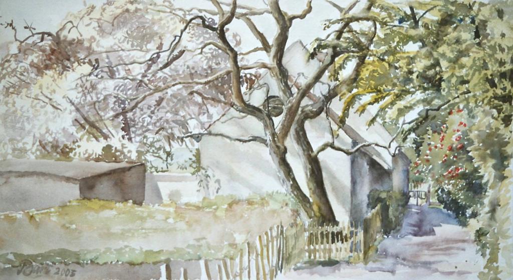 """""""Huisje langs kerkepad, Oosterbeek, voorjaar"""", 2003"""