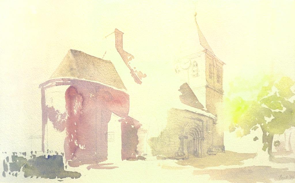 """""""Het oude kerkje van Oosterbeek II"""", 1999"""