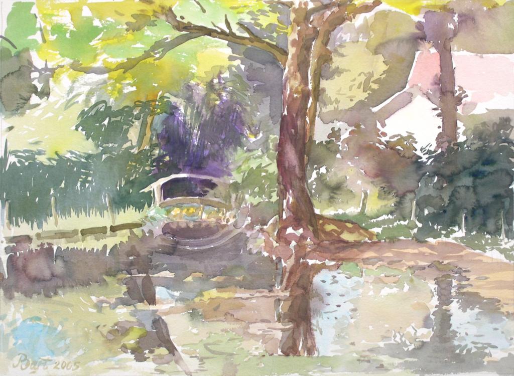 """""""Vijver in de tuin van hotel Dreijeroord"""", 2005"""