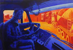 """""""Beton vrachtwagen chauffeur"""", 1991"""