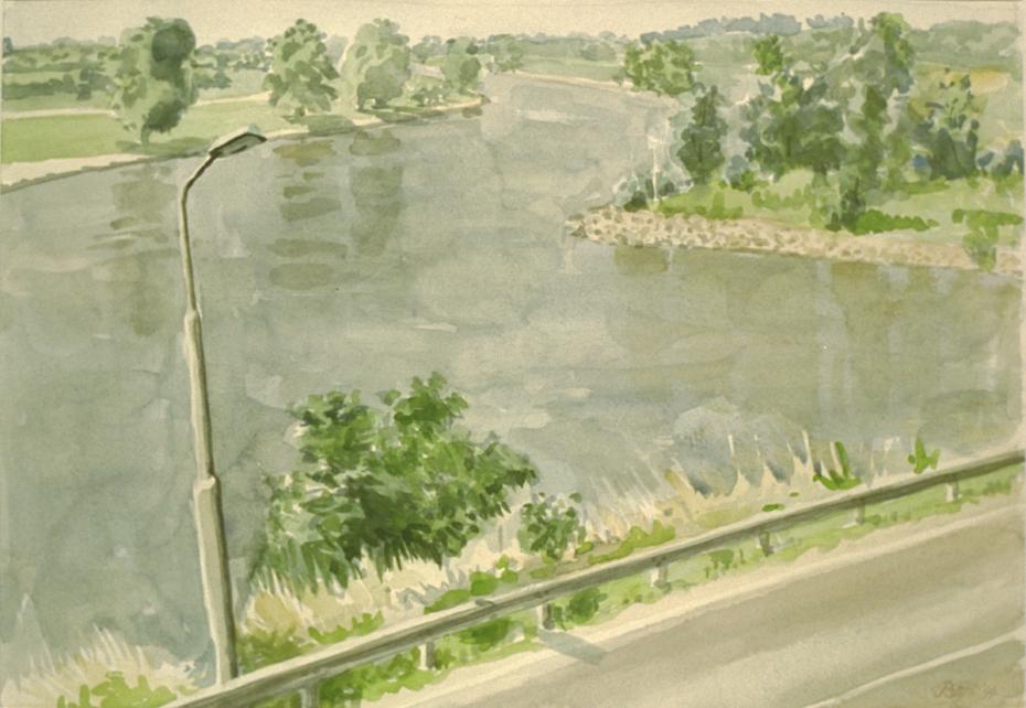 """""""De IJssel bij Rheden"""", 1994"""